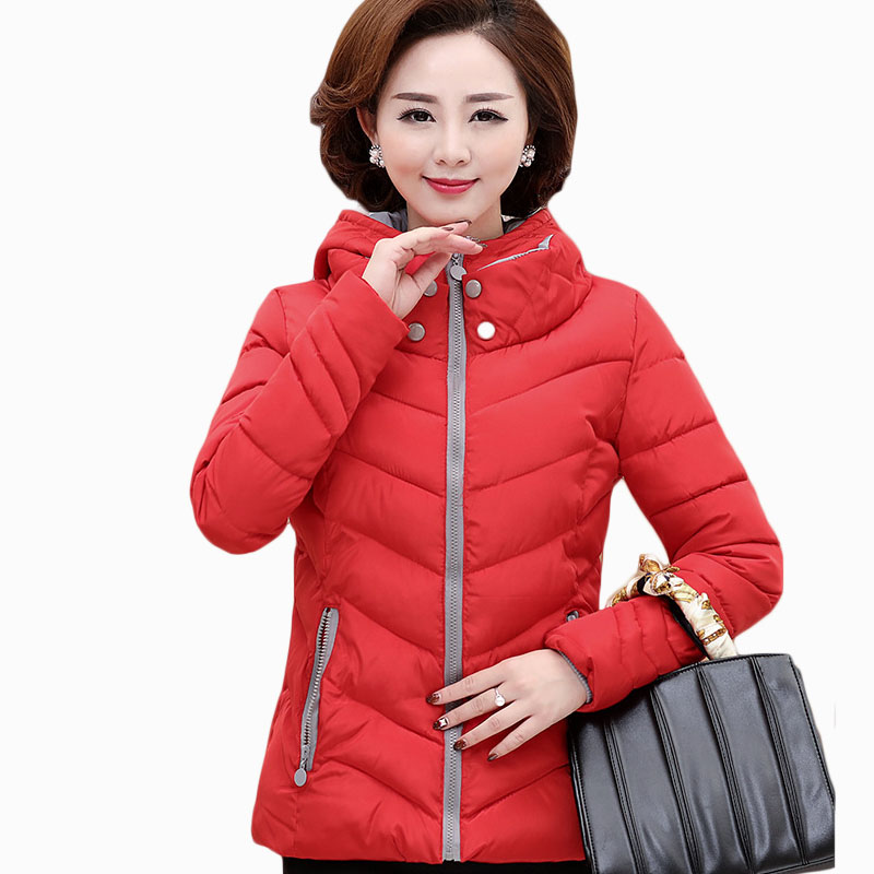 2017 NEW HOT SALE WOMEN WINTER JACKER THICKEN FASHION HOODED WARM SLIM FEMALE PARKAS COTTON WADDED COAT ZL699