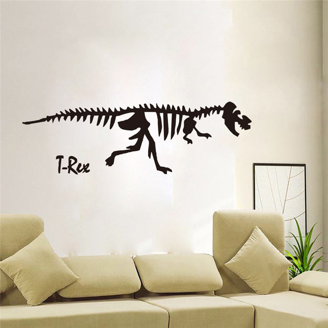 Home supplies jurassic dinosaur skeletons art visual wall sticker creative sitting room home decorative diy home