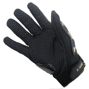 Image 4 - Breathable Gloves Leather Gloves Motorcycle Gloves Driving Road Bike Protective Gloves for Men