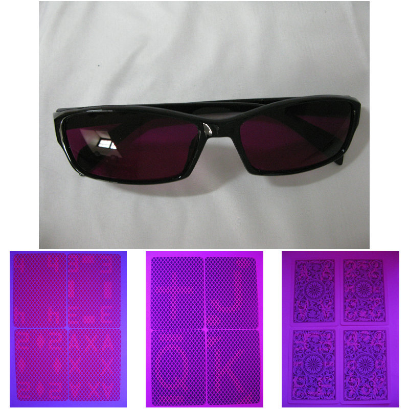 Magic poker home-GK 0010 Perspective glasses and frame glasses look at poker.sunglasses. Sales perspective contact lenses, magic poker home xmofang perspective glasses suit gambling perspective poker suit contact lens box magic props card cl