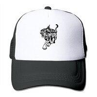 Unisex Tiger Mesh Trucker Hat Snapback Baseball Cap