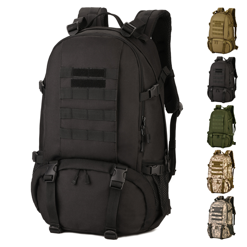 40L Outdoor Sports Backpack Nylon MOLLE Expand Tactics Assault Pack Versatile Climbing Travel Camping Hunting Cycling 40l tactical molle backpack assault shoulder bag outdoor hunting camping travel rucksack waterproof utility climbing back pack