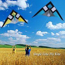 Воздушный змей с одним леером Delta-shape треугольник воздушный змей флаер для отдыха на открытом воздухе пляж семья веселье Дети Взрослые прекрасный подарок