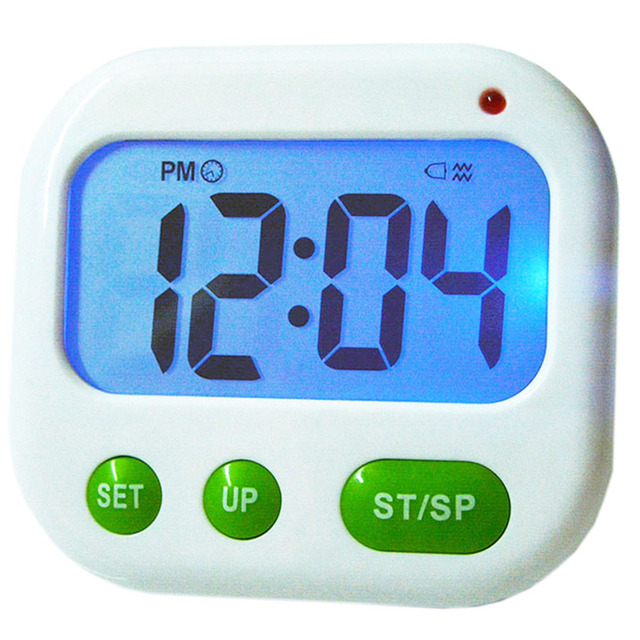 digital lcd 24 hours alarm countdown clock timer kitchen music