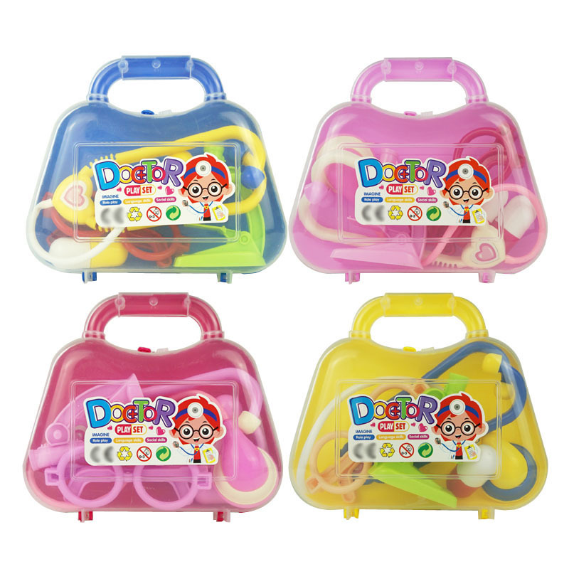 Children's Play House Doctor Toy Medical Hand Bag Girl Puzzle Hand Manual Brain Toy.1 Random Delivery