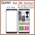 OLPAY 6,0 zoll 100% Original Für UMI Umidigi S2 S2 Pro S2 Lite Touch Screen Panel Vorderen Äußeren Glas Objektiv KEINE LCD Digitizer