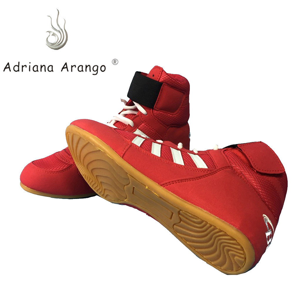 Adriana 2019 Wrestling Rubber Weight Lifting Shoes Unisex Comprehensive Training Shoes Anti skid Wear Resistance Boxing Shoes Weightlifting Shoes     - title=