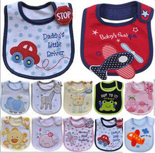 цены Cotton Baby Bib Waterproof Bibs Toddler Infant Saliva Towels Apron Burp Cloths Feeding Newborn Wear Cartoon Accessories