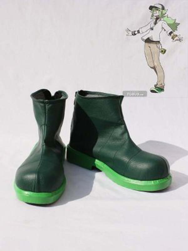 Pocket Monster Pokemon GenerationV Green Cosplay Shoes ...