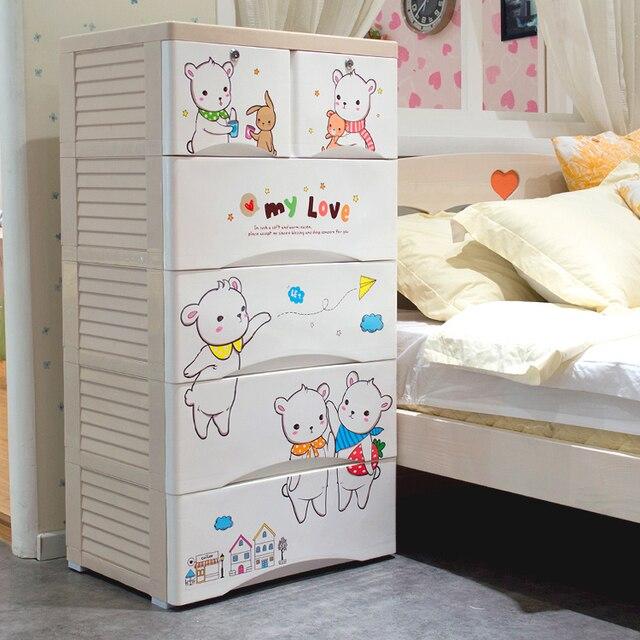 Hongjia Enfants Tiroir Armoires De Rangement Casiers Armoire