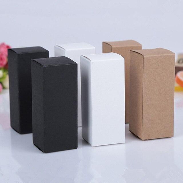 100 sztuk 10ML do 100Ml 18MM gumowa nakrętka zakraplacz niezbędne butelka oleju pudełeczko kosmetyki Kraft karton białe pudełko czarna skrzynka