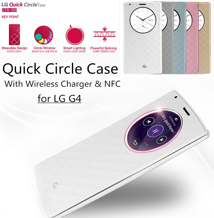 reputable site c9862 22a44 US $9.71 |For LG G4 Quick Circle Case QI Wireless Charger & NFC Flip  Leather Battery Cover for LG G4 Dual H815 H818N Phone Cases In Stock on ...