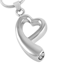 Asymmetric Heart Urn Necklace