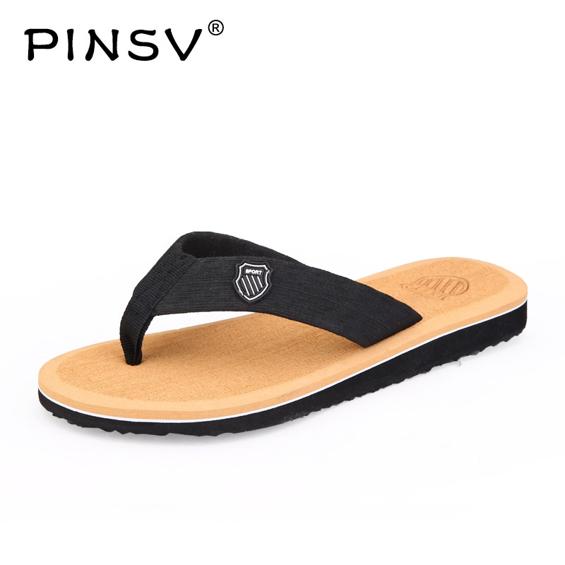 PINSV Summer Flip Flops Hot Sale Beach Sandals Men Outdoor Casual Slippers Men Sneakers Breathable Casual Shoes Mens Shoes
