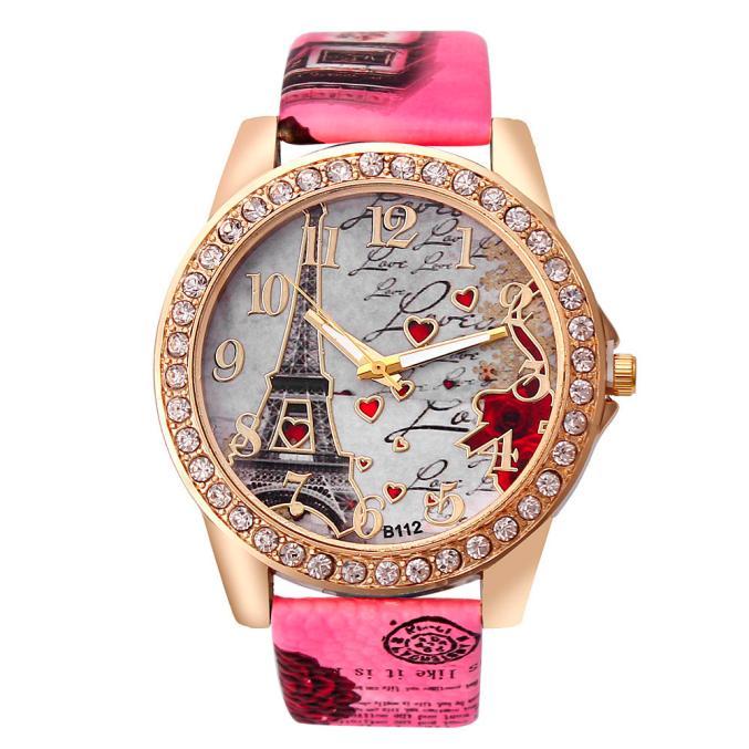 7 Colors DropShipping New Vintage Paris Eiffel Tower Women's Quartz Watch Women Girls Ladies Students Casual Wristwatch Relojes hanae mori paris vintage юбка винтажная 70e