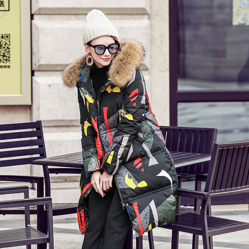 Longue Grand Section Tresse Cheveux Nouvelles De Vers Bas 90 Couleur Américain Et Sept Color Femmes Hiver Veste Européen Col Le 2018 nC7xPwZ7