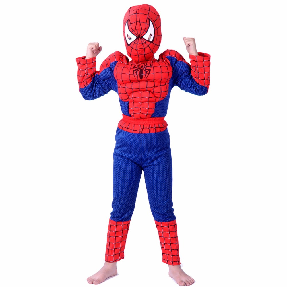 2016 anime cosplay muscle spiderman halloween costume the spider man masquerade party clohing gift for children - Halloween Muscle