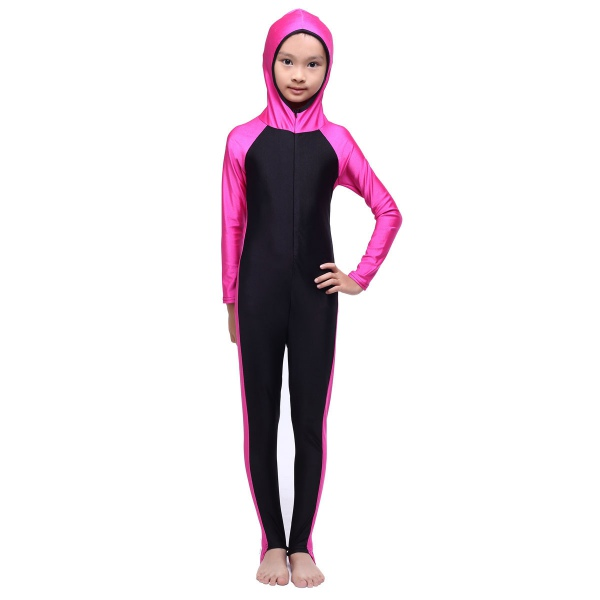 Hot sell Hooded Kid Girls Islamic Muslim Full Cover Swimsuit Beachwear Costumes New Style ...