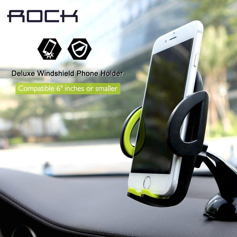 ROCK Simpiz series Deluxe windshield phone holder Car Mobile Phone Holders & Stands pop socket Adjustable <font><b>Suitable</b></font> <font><b>for</b></font> 4-6inch