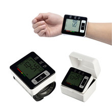 Digital Wrist Blood Pressure Monitor Portable Automatic Sphygmomanometer Blood Pressure Meter for Home Health Care Measurement