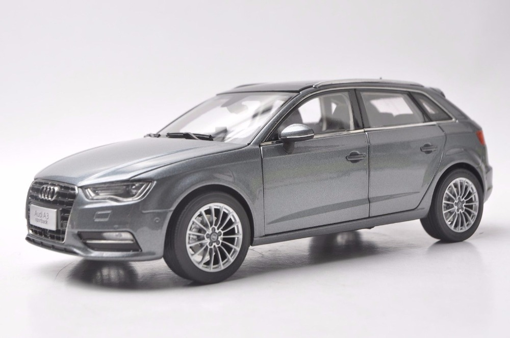 1:18 Diecast Model for Audi A3 Sportback Grey SUV Alloy Toy Car Miniature Collection Gift 1 18 vw volkswagen teramont suv diecast metal suv car model toy gift hobby collection silver