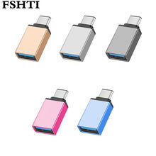 1pcs Metal USB 3.1 Type C OTG Adapter Male to USB 3.0 A Female Converter Adapter OTG Function for Macbook Google Chromebook(China)