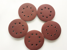 High Quality 125mm 8 Holes Hook & Loop Sand Paper Abrasive Sanding Paper Power Tools Accessories Grits 40 to 2000 Available