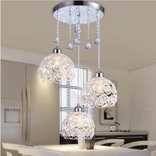 Хрустальная лампа, ресторан, подвесные светильники, творческая личность, современная простота, бар, столовая, dinin, освещение, абажур(диаметр: 20 см
