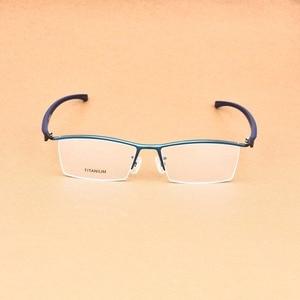 Image 2 - העסקי גדול משקפיים מסגרת גברים משקפי טהור טיטניום אופטי מרשם Oculos גדול גודל משקפיים