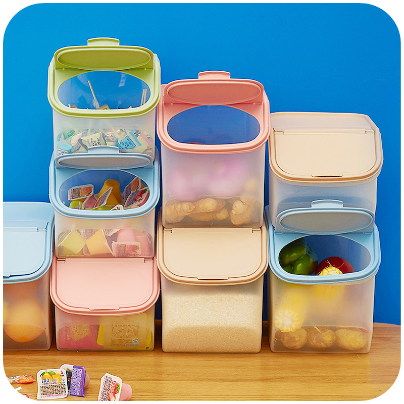 kitchen whole grains storage box large thick stackable storage box fresh pot rice bucket