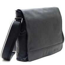 2017 Handmade Popular 100% Genuine Leather Nappa leather Black Satchel Shoulder Messenger Bag 13.1″ Laptop Bags 1036