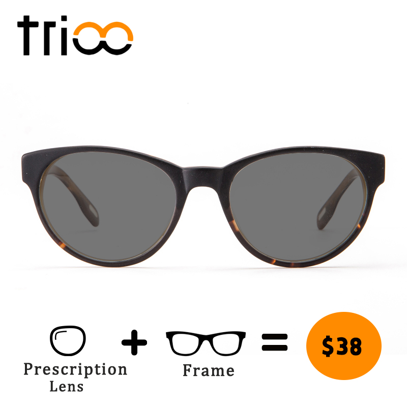 TRIOO Sunglasses with diopters Cat Eye Prescription Sun Glasses for women UV400 Minus Eye Glasses Driving Nearsighted Eyewear 2016 new fashion sunglasses women brand designer sun glasses vintage eyewear