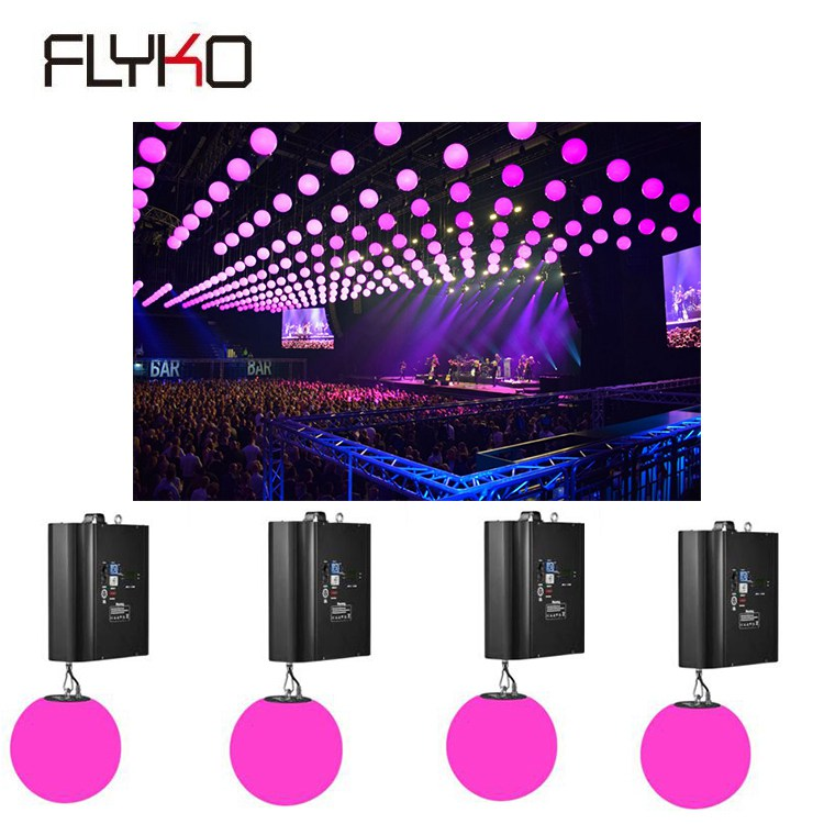 Free Shipping Newest Tradeed Light Kinetic Ball Lights Installation With DMX Winches