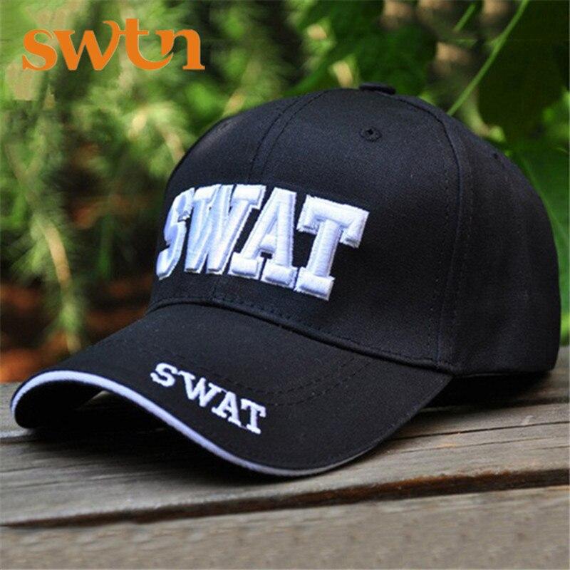 Prix pour Nouvelle Vente Chaude SWAT Caps Sport UV 1 Couleur Noir Tactique Casquette de baseball Hommes Femmes Gorras Snapback SWAT Caps