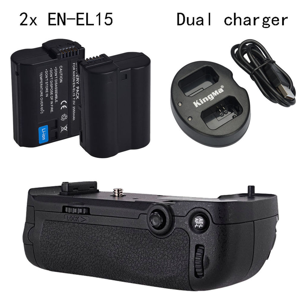 MEIKE D750 MK-D750 Battery Grip Pack as MB-D16 for Nikon D750 + 2* EN-EL15 battery + Dual charger meike mk dr750 vertical battery grip pack holder for nikon d750 rechargeable li ion battery for nikon en el15 cleaning kit