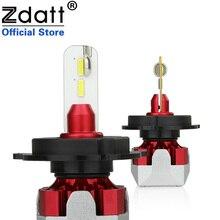 Zdatt Small H7 LED H4 H11 Car Light Headlight Bulb 12000LM H8 H1 H9 HB3 9005 9006 HB4 100W 6000K 12V 24V Lamp Auto Automotive