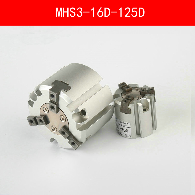 MHS3 16D 20D 25D 32D 40D 50D 63D 80D 100D 125D Parallel Style Air Gripper 3 Finger Double Action Rotating Cylinder Bore 16-125mm high quality double acting pneumatic gripper mhy2 25d smc type 180 degree angular style air cylinder aluminium clamps