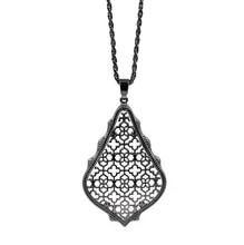 Big Water Drop Filigree Pendant Necklace Women Gift Fashion Jewelry Wholesale