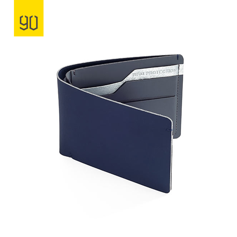 Xiaomi 90FUN Anti Theft Wallet RFID Blocking Signal Safe Billfold Wallet Card Coin Holder Men Women Protect Credit Card coolife luggage aluminium frame