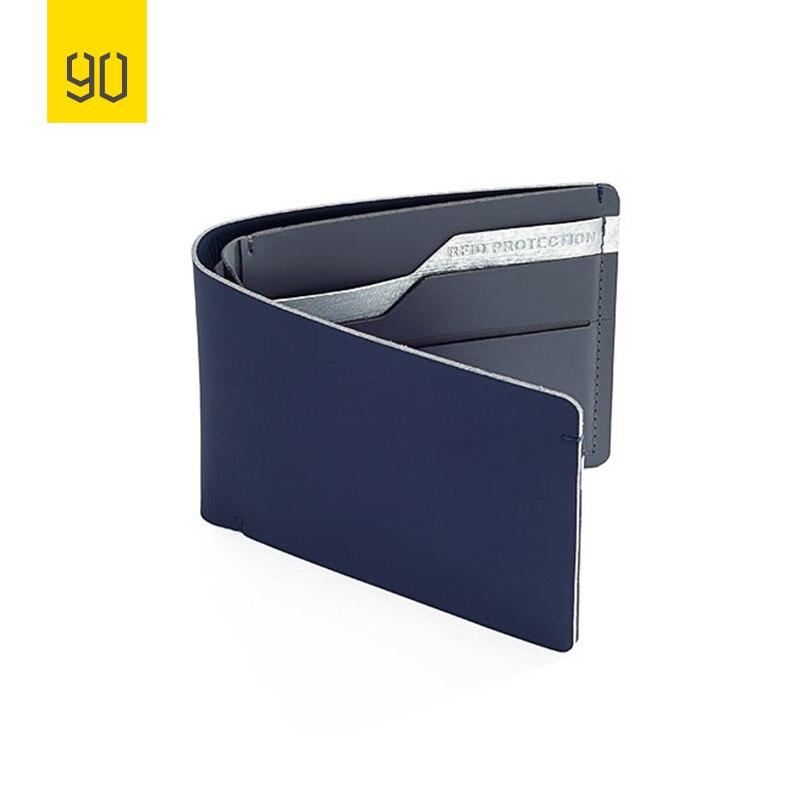 Xiaomi 90FUN Anti Theft Wallet RFID Blocking Signal Safe Billfold Wallet Card Coin Holder Men Women