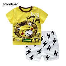 2017 New Youngsters Garments Set Summer time Informal Boys Clothes Units Kids T-shirt+Quick Pants Sport Go well with For Boy Outfits