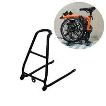 Rower mała półka Ultralight wspornik tylny stojak na Brompton rower składany mini-oszczędzający moc Tow małe koła ze stopu aluminium