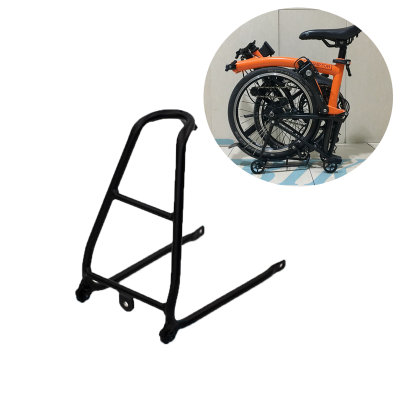 Bicycle Small Shelf Aluminum Alloy Ultralight Bracket Rear Rack Mini - saving Power Tow Small Wheels for Brompton