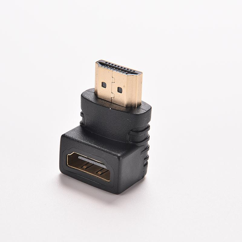 1PC HDMI V1.4 Right Angle A Male to HDMI V1.4 B Female Gold Plated Cable Adapter 90 Degree HDTV 1080P HDMI Cable Connector gold plated 1080p v1 4 hdmi male to male shielded connection cable 2 8m length