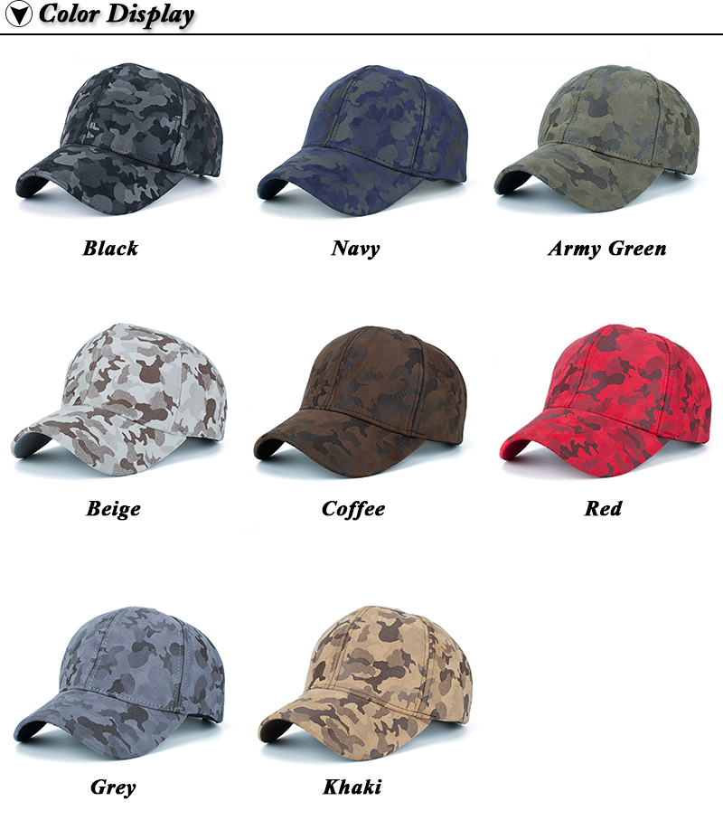 Faux Leather Camo Baseball Cap - Available Colors