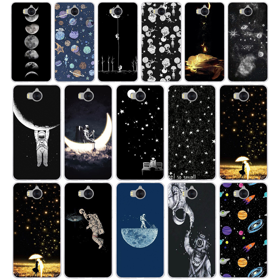 Half-wrapped Case Cellphones & Telecommunications Earnest 73g Sky Space Planet Black And White Sun Moon Soft Tpu Silicone Cover Case For Huawei Nova 2i Y6 Ii 2017 Latest Technology