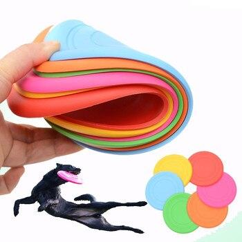 Discos voladores para perros de 18cm entrenamiento de cachorros de juguete de goma