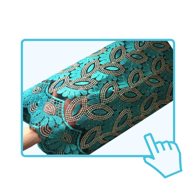 French Lace Fabric Teal Green Beaded African Lace Fabric 2019 High Quality Lace Embroidered Fabric for Nigerian Wedding Dresses 1