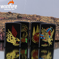 This creative kerosene lighter metal black screen windproof lighter