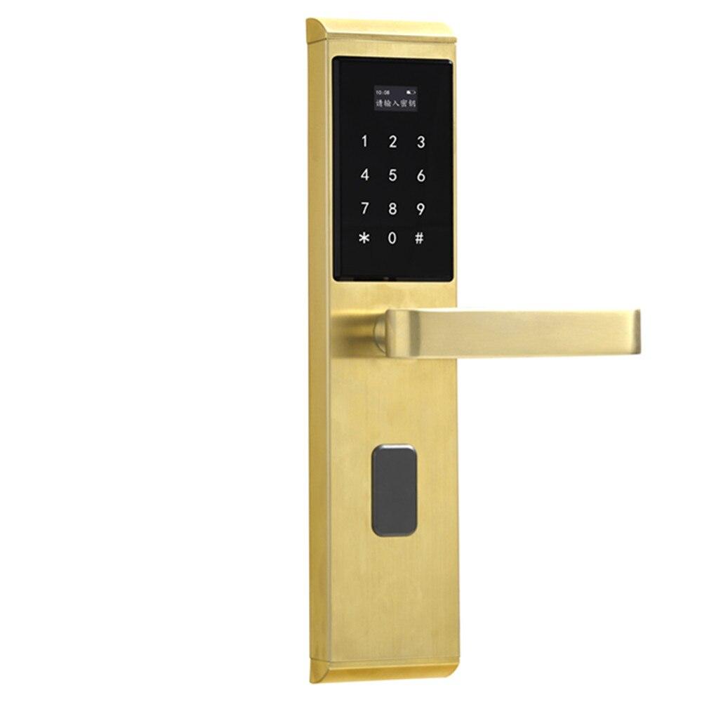 Password door lock Digital Lock Keyless Smart Door Lock Password+RFID Card+Key Unlocking Facial Recognition Device     - title=